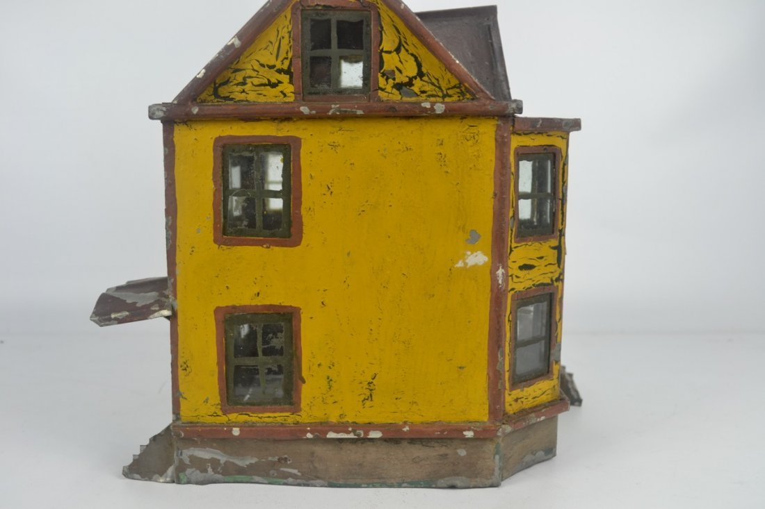 Antique Folk Art Tin House Model - 3