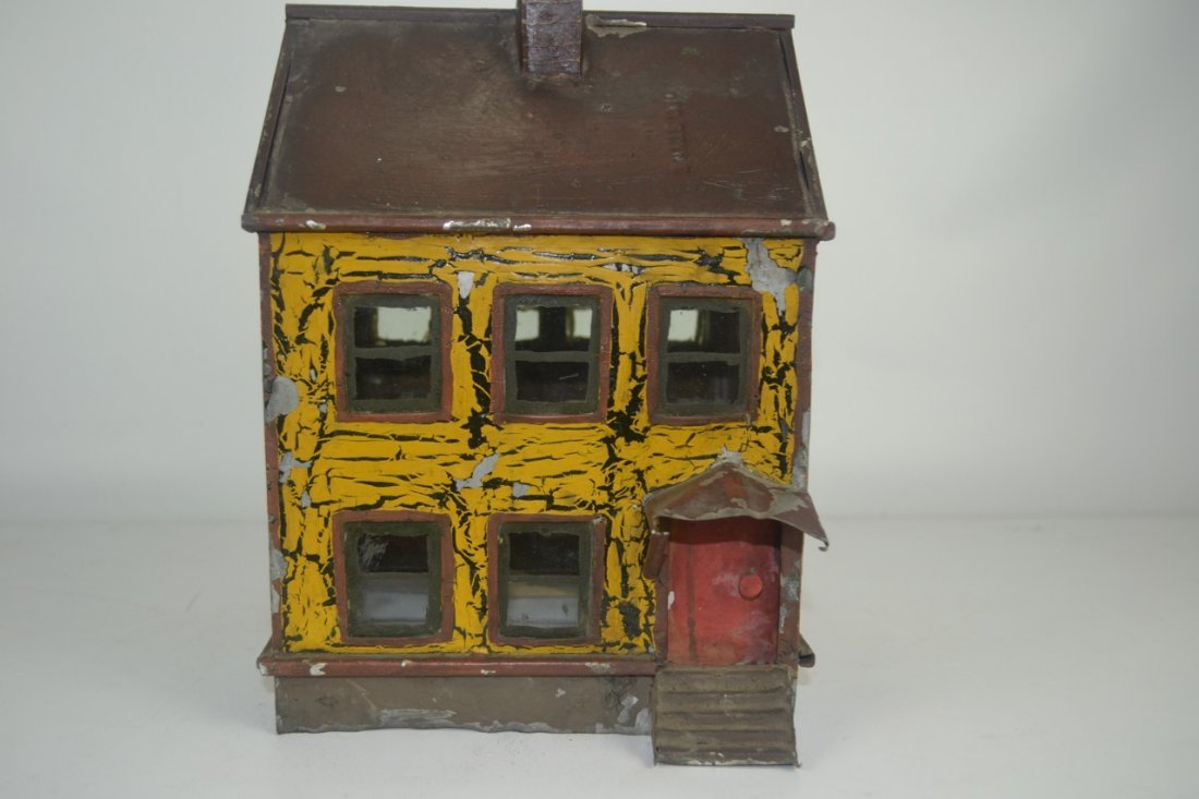 Antique Folk Art Tin House Model - 4