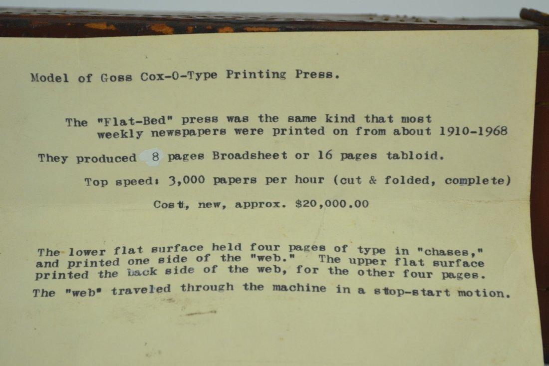 Antique Salesman's Sample Printing Press - 10
