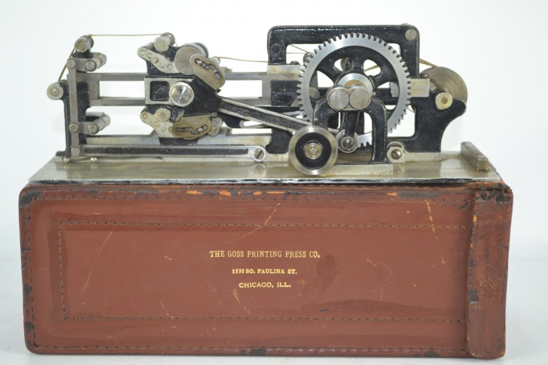 Antique Salesman's Sample Printing Press