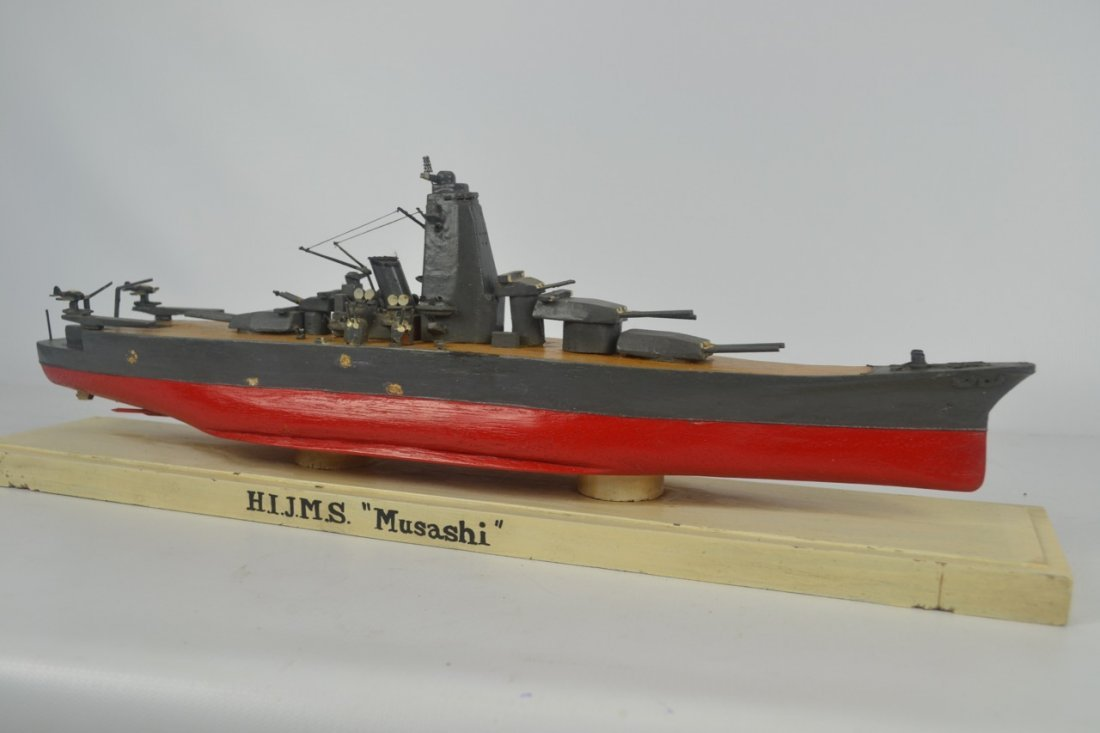 Wooden Japanese WWII Battleship Model