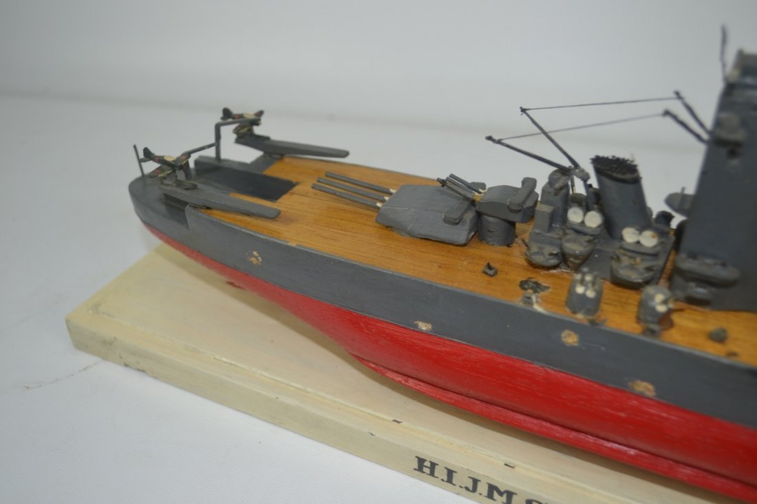 Wooden Japanese WWII Battleship Model - 2
