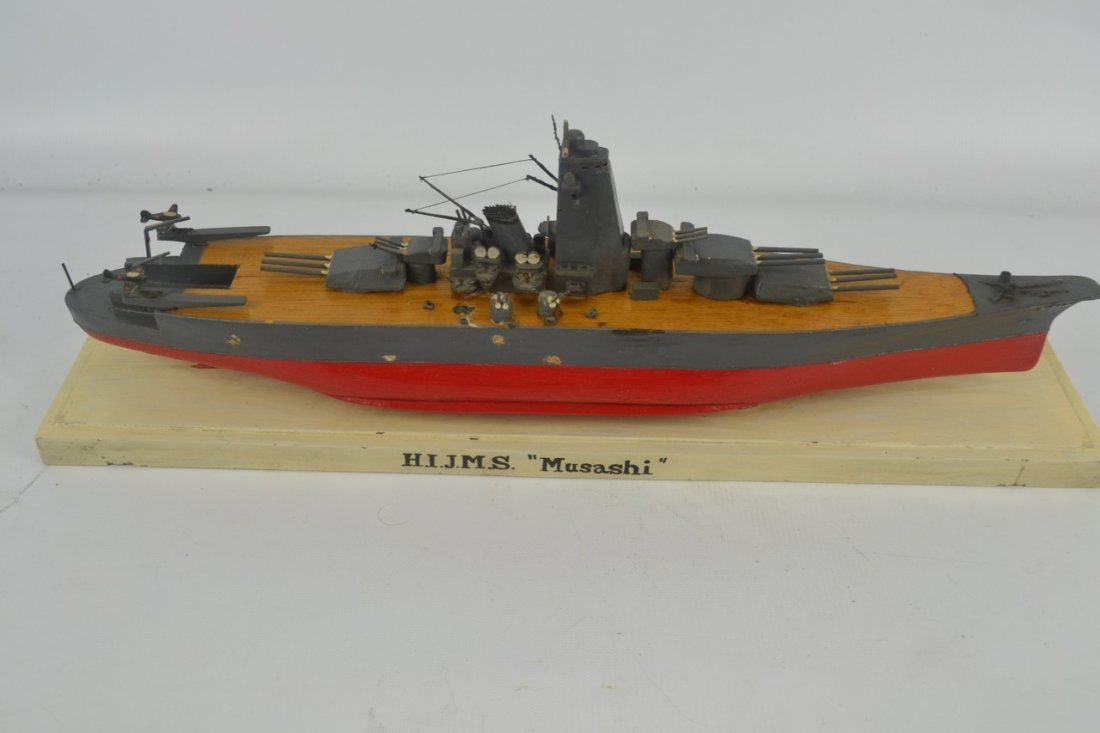 Wooden Japanese WWII Battleship Model - 3