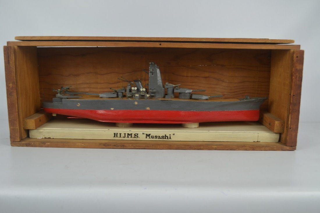 Wooden Japanese WWII Battleship Model - 7