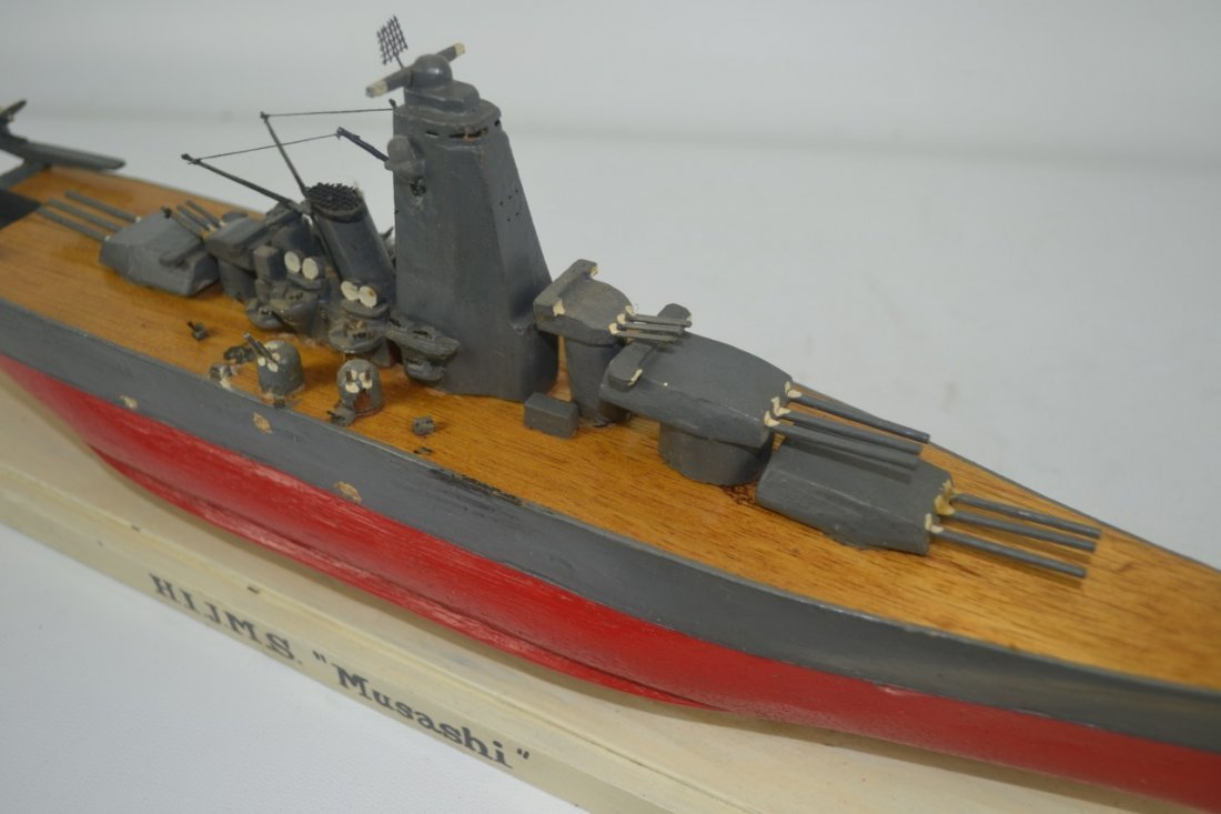 Wooden Japanese WWII Battleship Model - 8