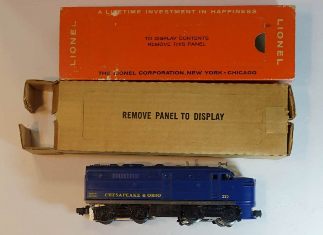 Lionel 225 c and o alco diesel boxed and sleeved