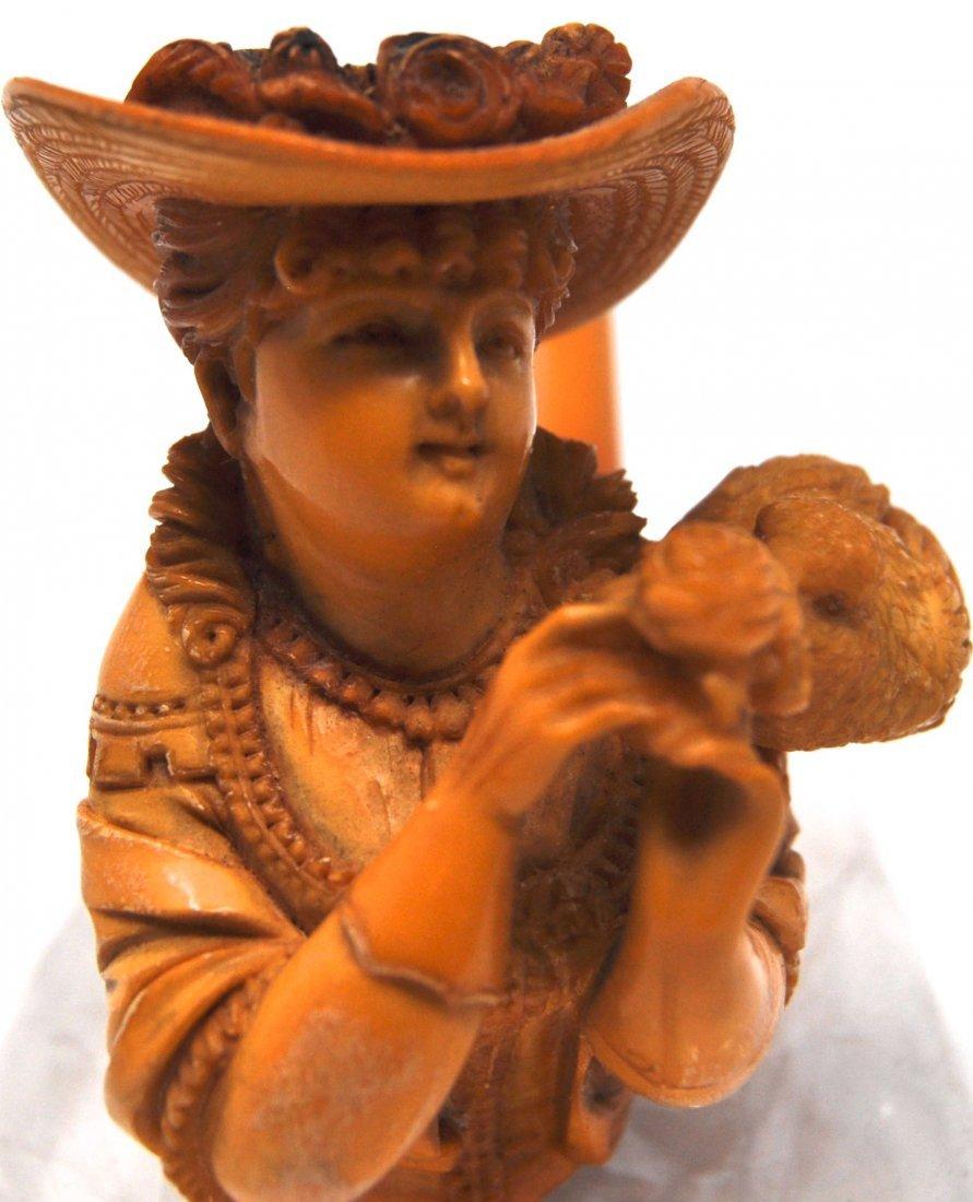 Antique Woman& Bird Meerschaum Pipe - 2