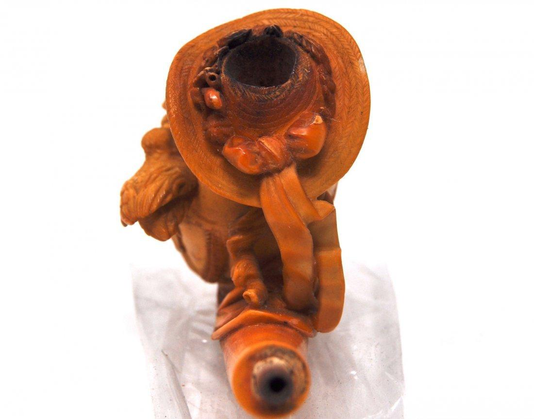 Antique Woman& Bird Meerschaum Pipe - 3