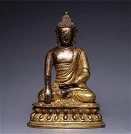 Chinese Tibetan Bronze Buddha