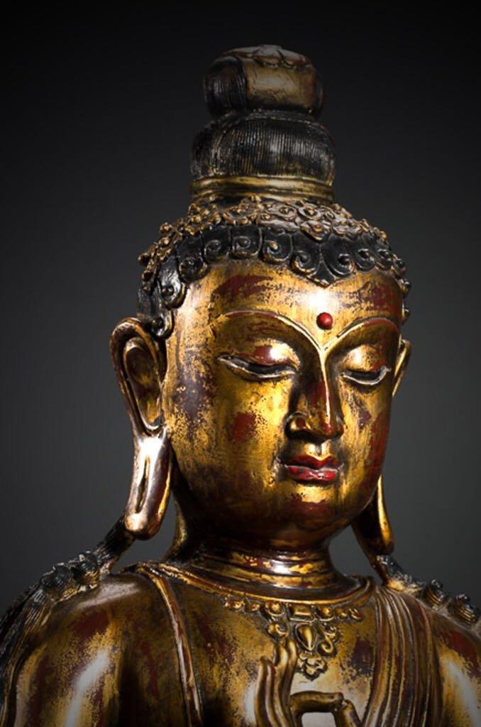 Chinese Tibetan Bronze Buddha - 10