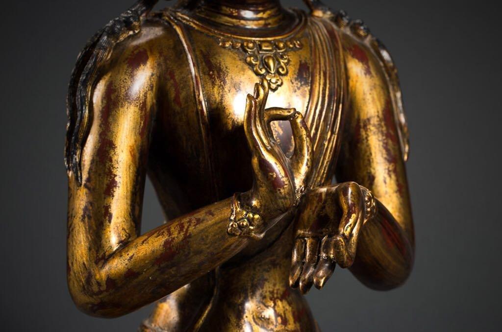 Chinese Tibetan Bronze Buddha - 3