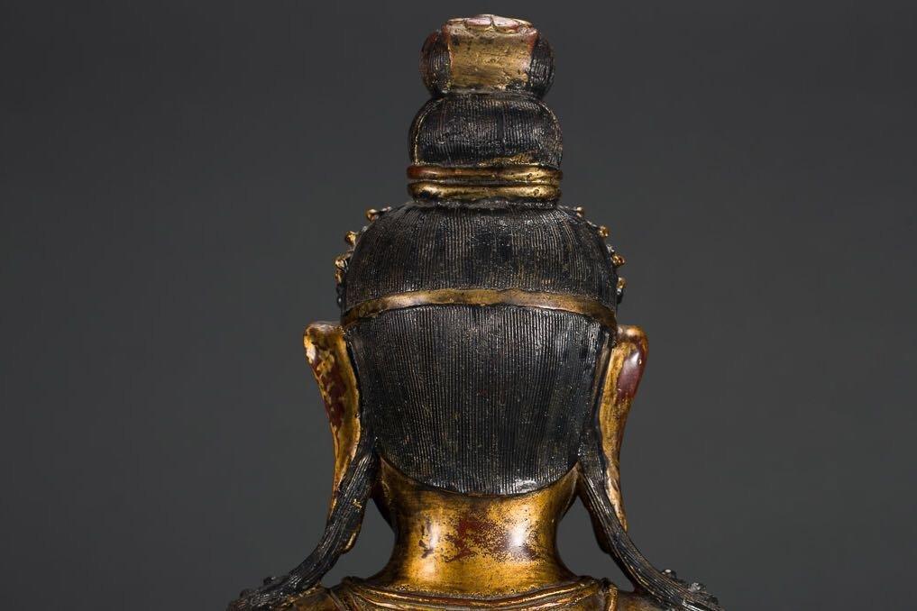 Chinese Tibetan Bronze Buddha - 4