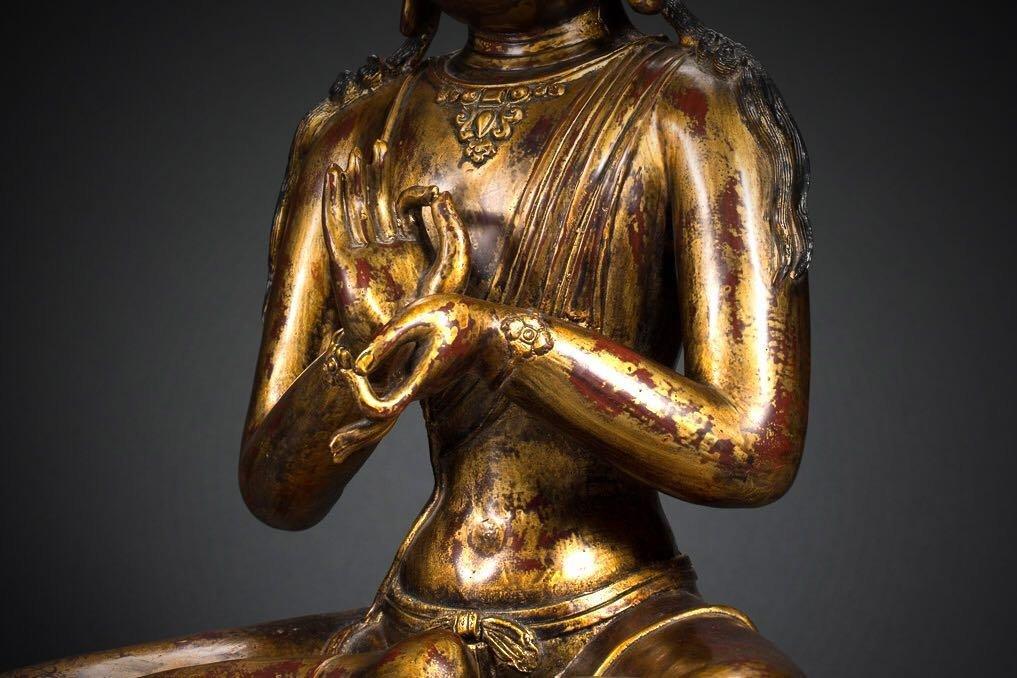Chinese Tibetan Bronze Buddha - 5