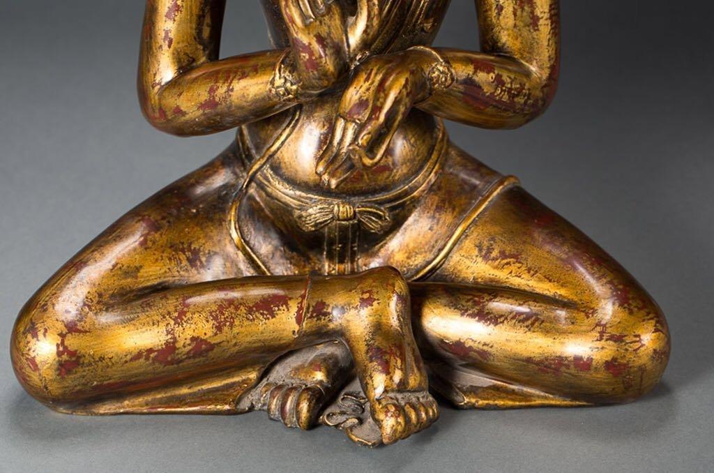 Chinese Tibetan Bronze Buddha - 6
