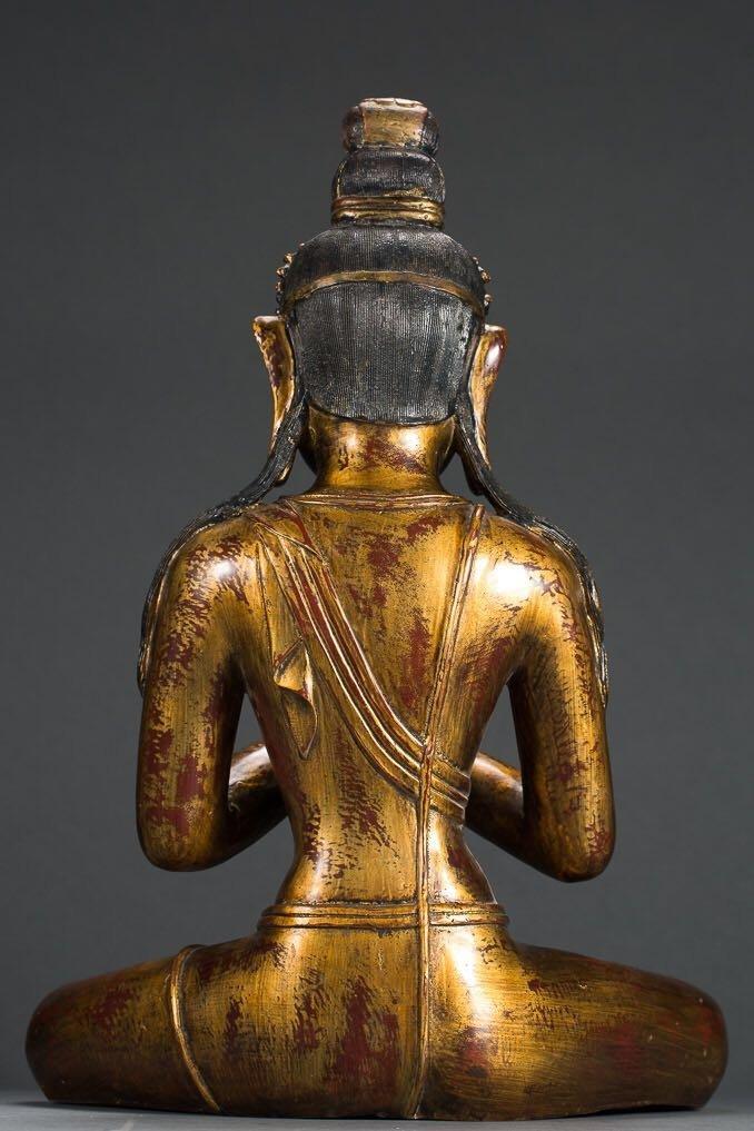 Chinese Tibetan Bronze Buddha - 7