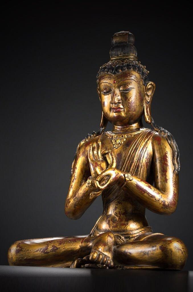 Chinese Tibetan Bronze Buddha - 8