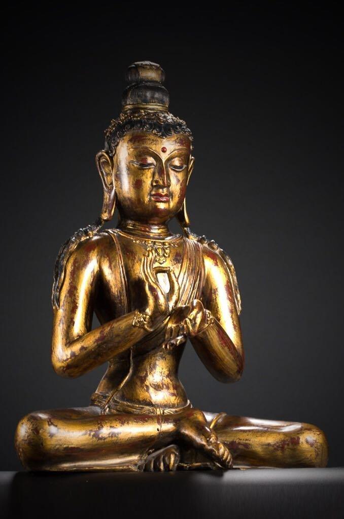 Chinese Tibetan Bronze Buddha - 9
