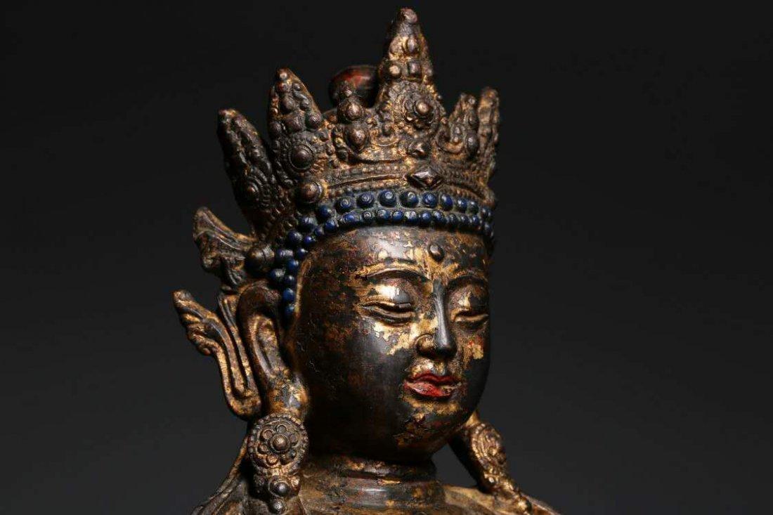 Chinese Qing Dynasty Bronze Buddha - 3