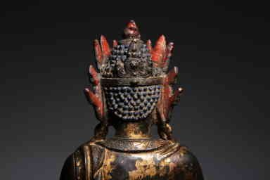 Chinese Qing Dynasty Bronze Buddha - 7