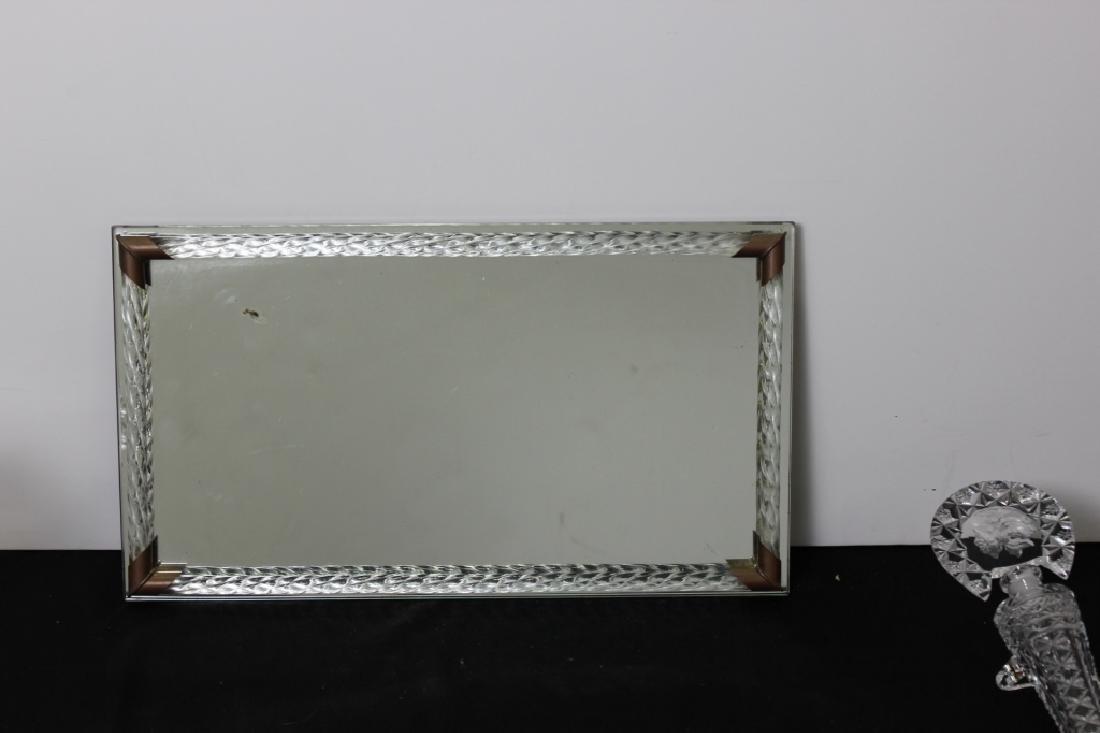 Vanity Mirror Tray w/ 3 Perfume Bottles - 4