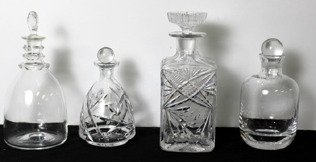 4 Glass Liquor Decanters