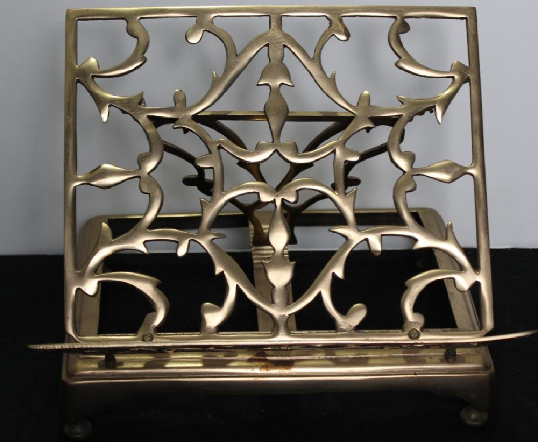 Antique Brass Folding Book Stand