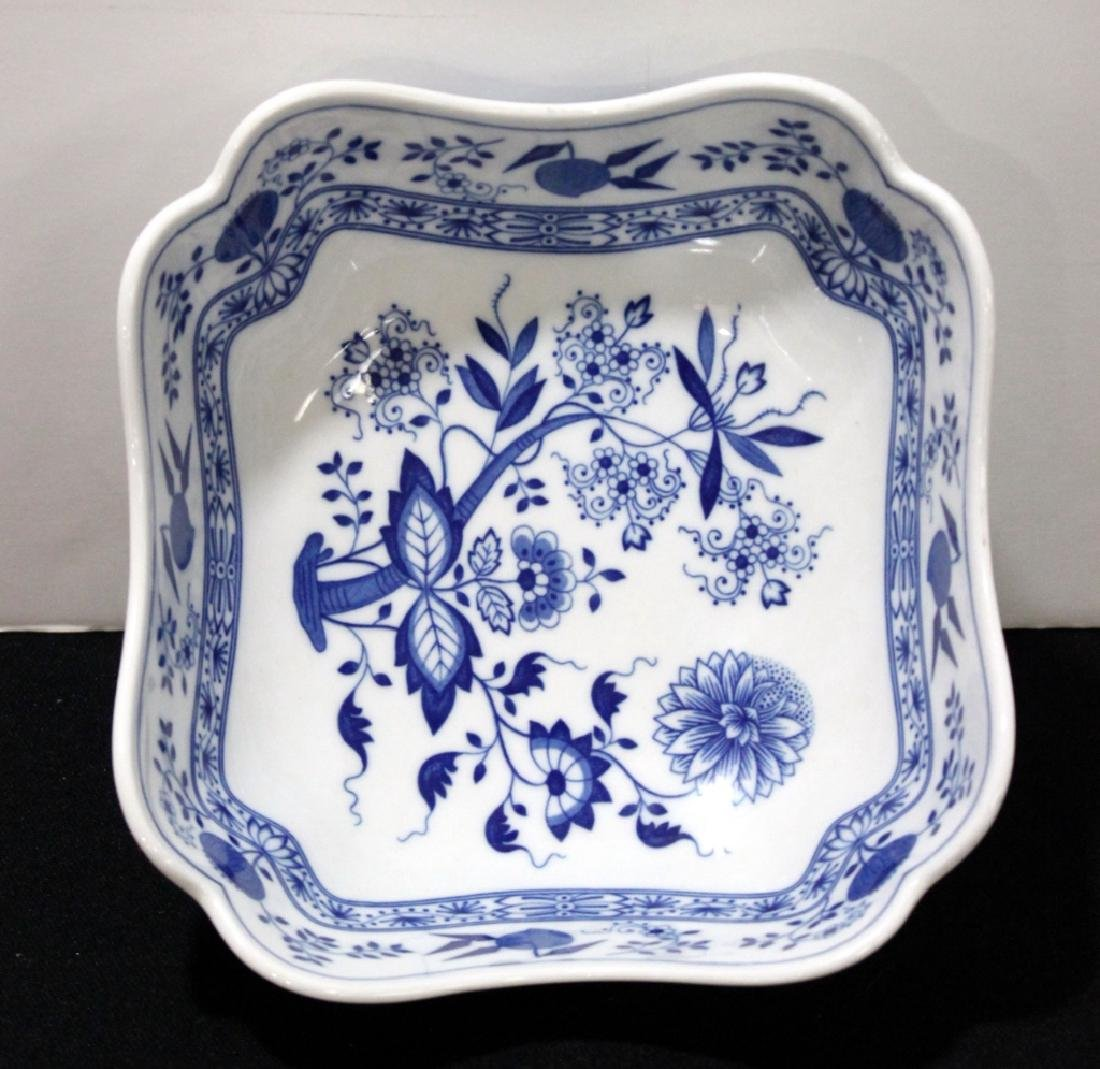 Blue Onion Sqare Bowl