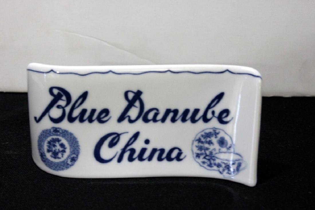 Blue Danube china display sign