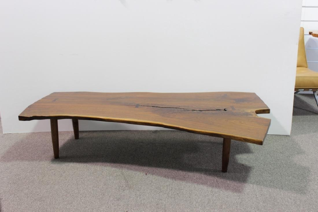 Nakashima Style Walnut Slab Coffee Table