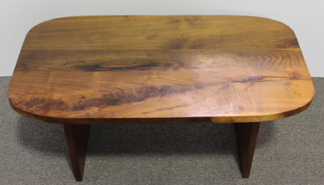 Mid-Century Style Walnut Coffee Table - 4