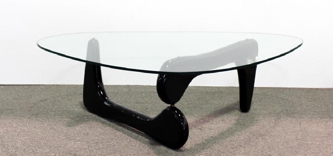 Noguchi Style Mid -Century Modern Glass Table