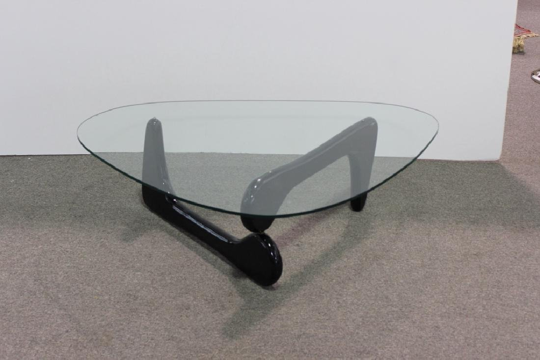 Noguchi Style Mid -Century Modern Glass Table - 2
