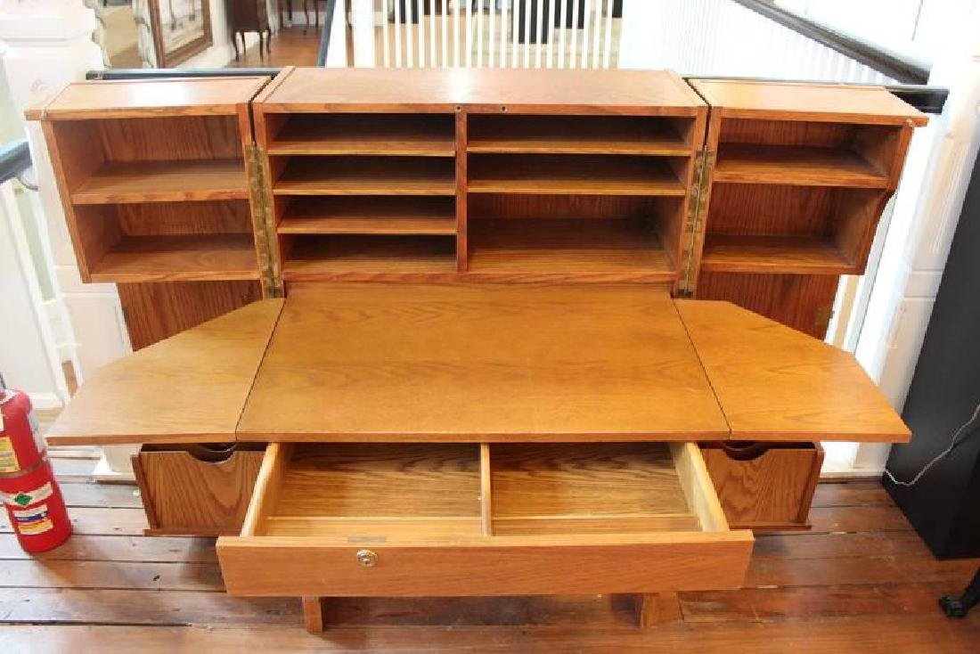"Oak Convertible Wooton Style Desk ""Metamorphosis"" - 2"