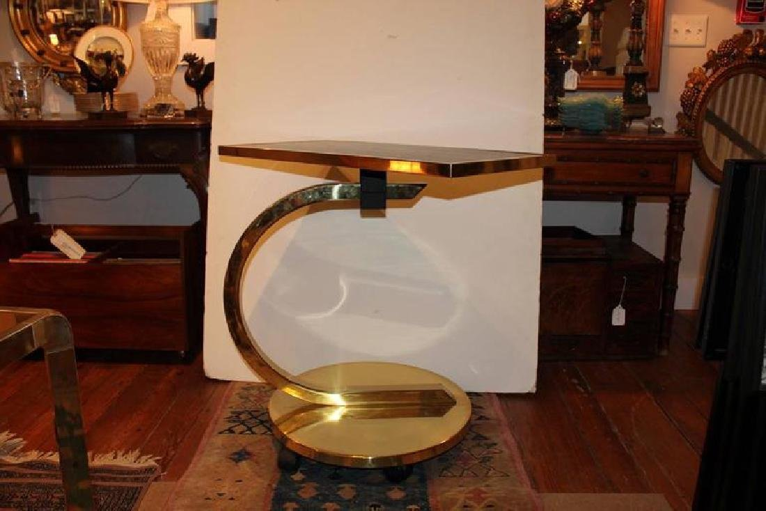 Mid-Century Italian Swivel and Brass Stand - 6