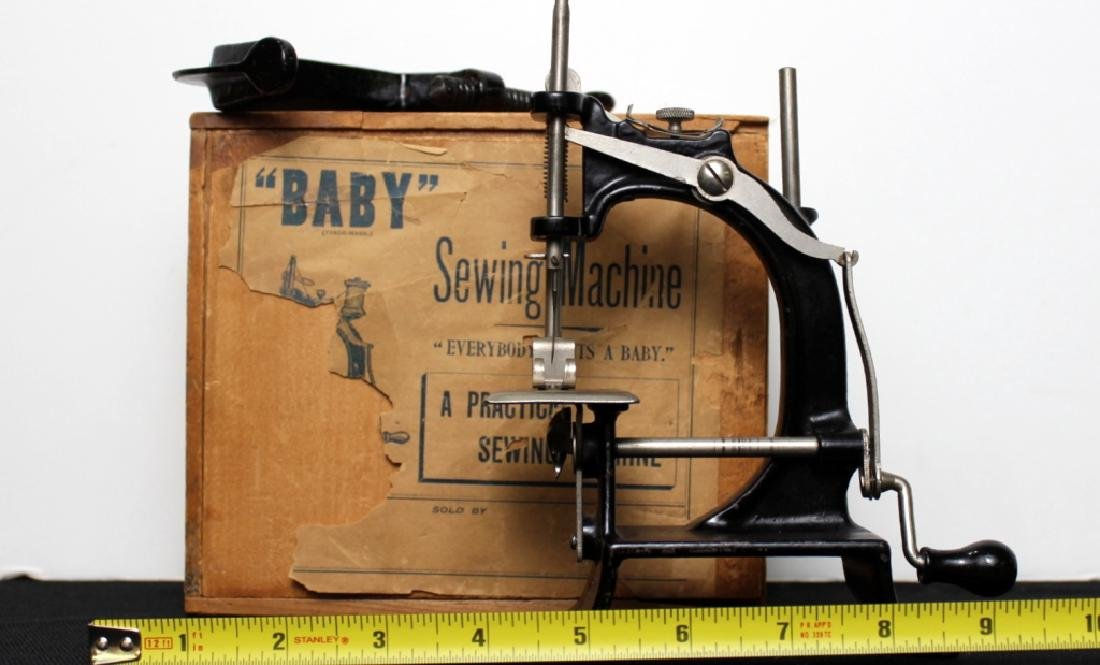 "Toy Sewing Machine - ""Baby""  w/Box - 3"