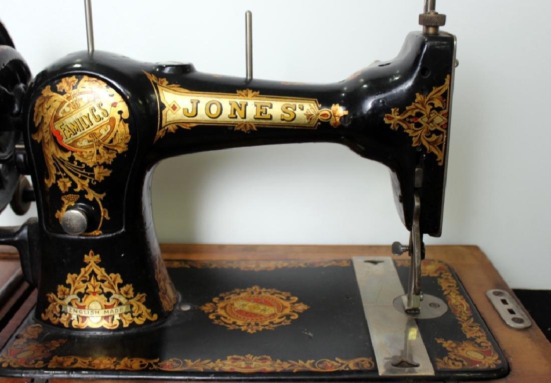 Jones Shuttle Bobbin Hand Crank Sewing Machine