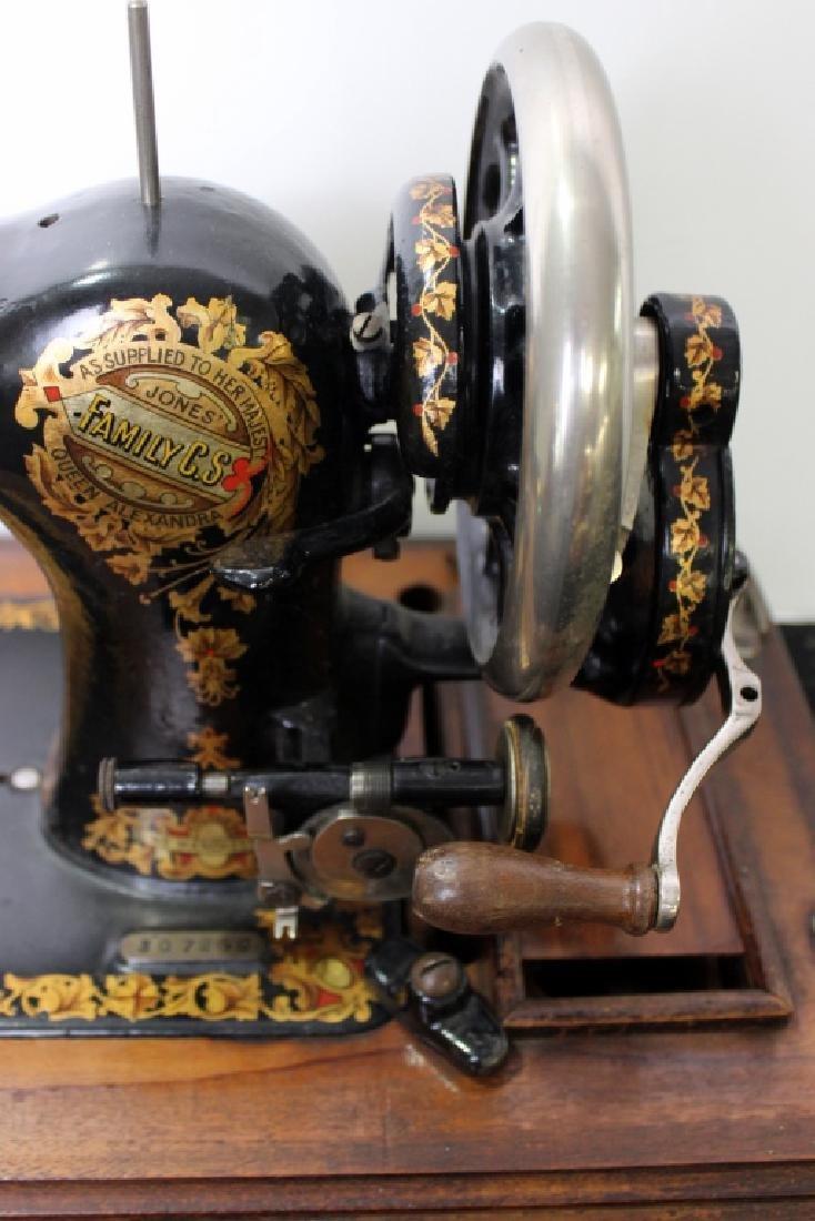 Jones Shuttle Bobbin Hand Crank Sewing Machine - 3
