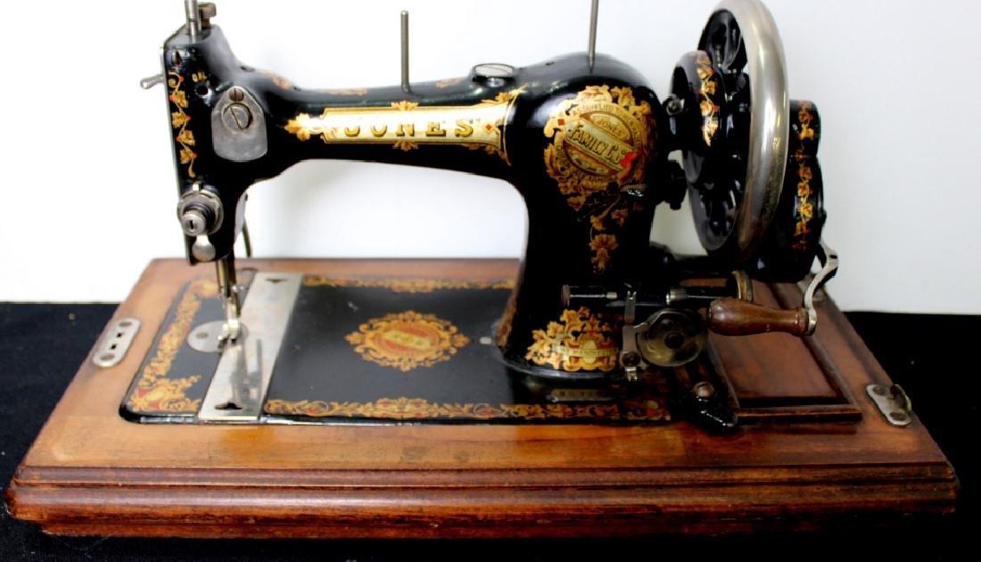 Jones Shuttle Bobbin Hand Crank Sewing Machine - 6