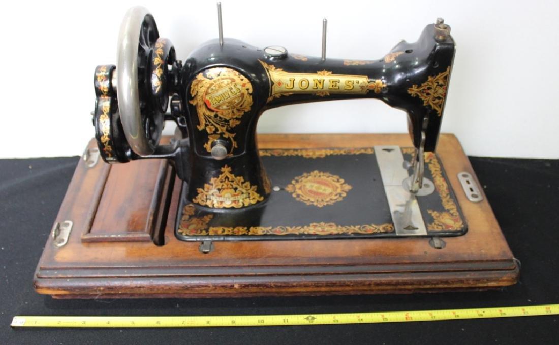 Jones Shuttle Bobbin Hand Crank Sewing Machine - 9