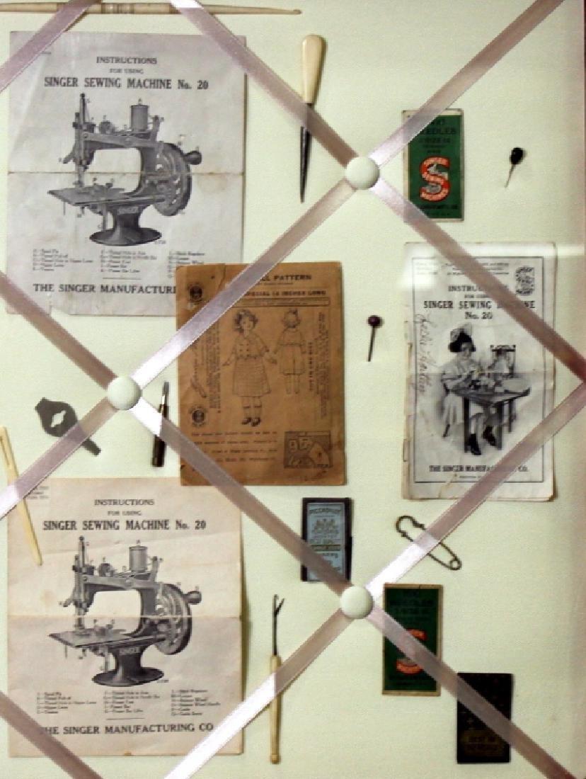 Custom Made Framed Vintage  Sewing Collage - 2