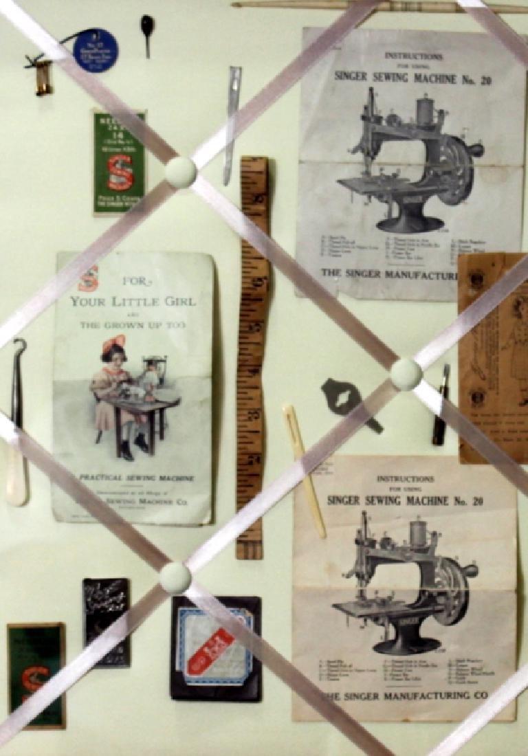 Custom Made Framed Vintage  Sewing Collage - 3