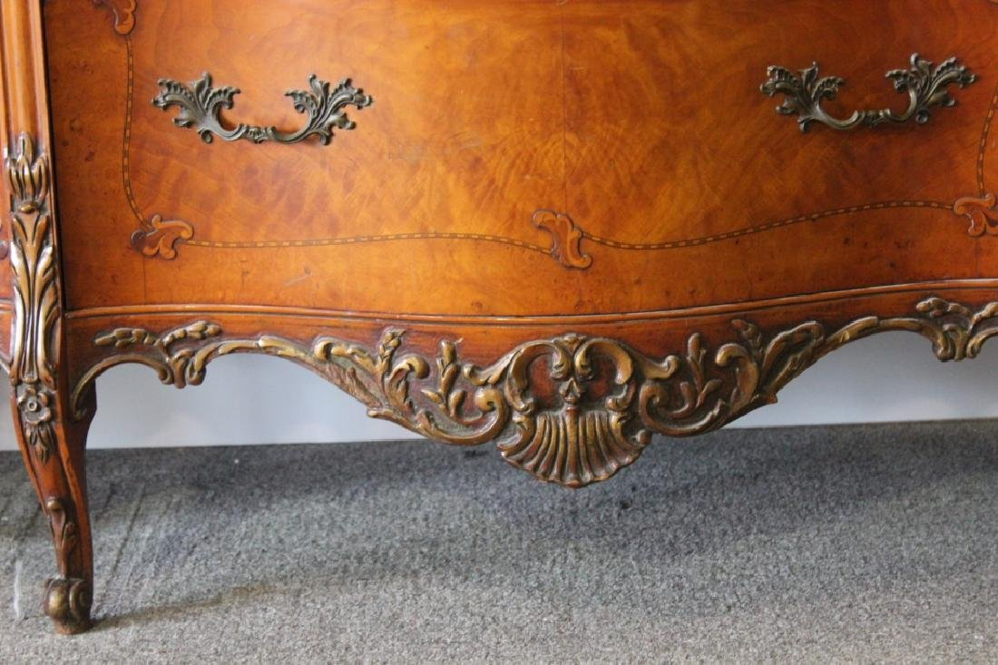 French Style Serpentine Chest Of Drawers - 2