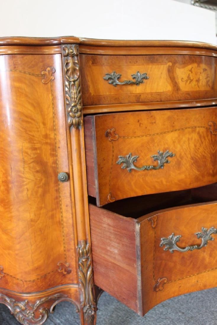 French Style Serpentine Chest Of Drawers - 4