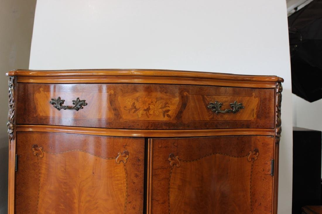 French Style Serpentine Inlaid Chest Of Drawers - 3