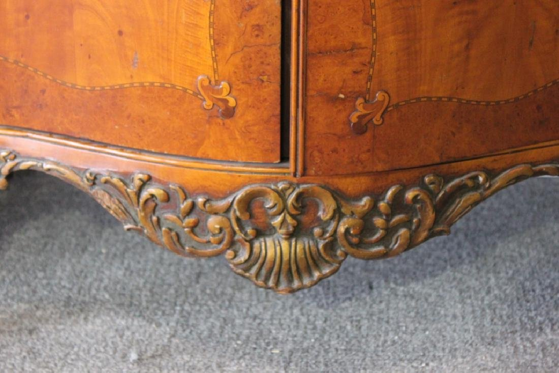 French Style Serpentine Inlaid Chest Of Drawers - 4
