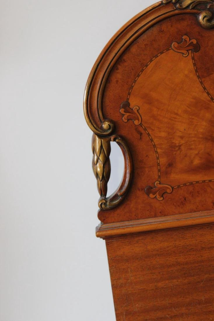 French Style Satinwood Inlaid Headboard - 3