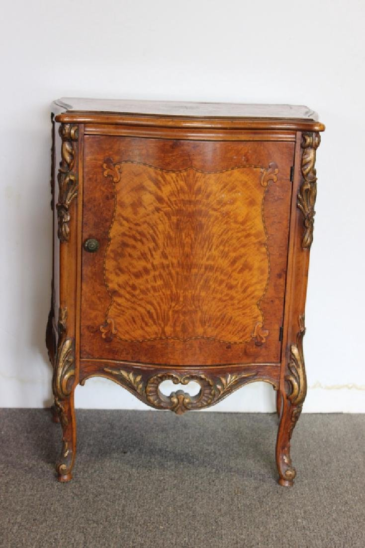 French Style Satinwood Inlaid Stand