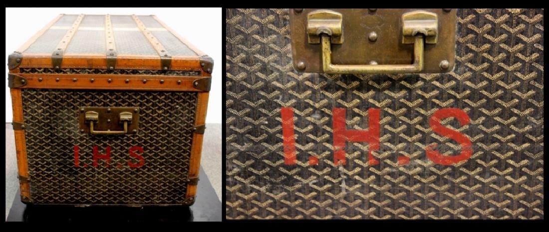 Aine Goyard Trunk Made In  Paris - 10