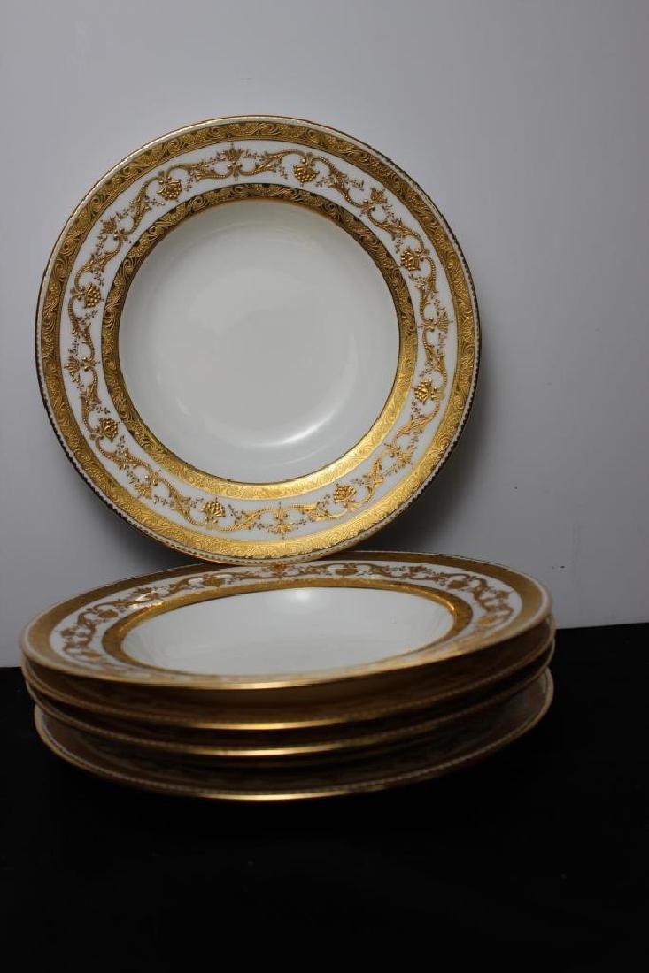 Tiffany White & Gold soup bowls (set of 5)
