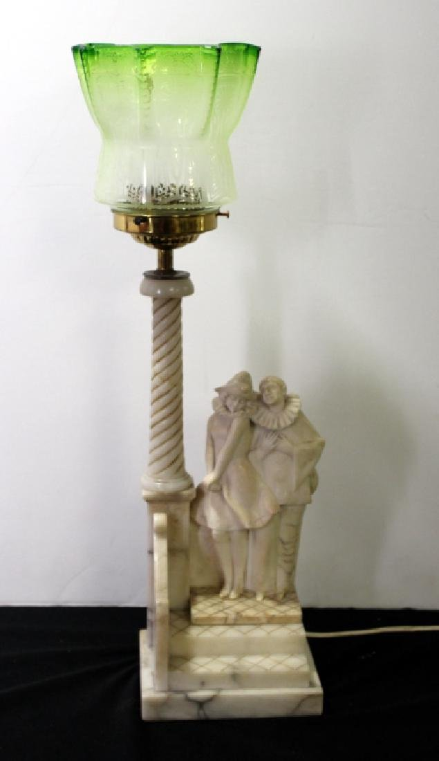 Marble Figural Lamp, C.1940's